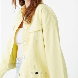 Forever 21 yellow denim jacket, XL/0x Brand new